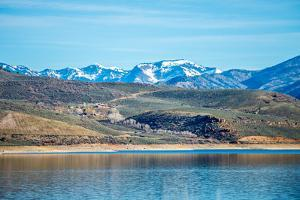Blue Mesa Reservoir in Gunnison National Forest Colorado by digidreamgrafix