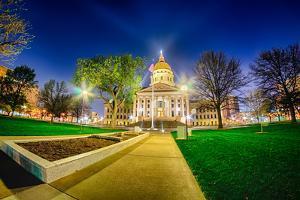 Topeka Kansas Downtown at Night by digidreamgrafix
