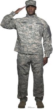 Digital Camo Soldier Lifesize Standup