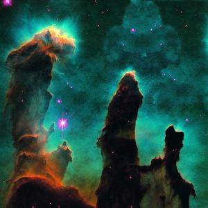 Gaseous Pillars in the Eagle Nebula by Digital Vision.
