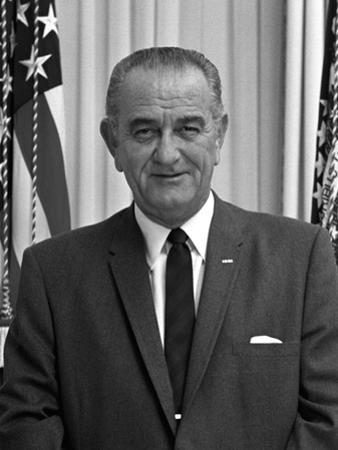 Digitally Restored American History Photo of President Lyndon B. Johnson