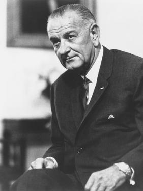 Digitally Restored American History Photo of President Lyndon B. Johnson