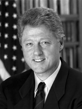 Digitally Restored Photo of President Bill Clinton