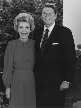 Digitally Restored Photo of President Ronald Reagan and His Wife Nancy