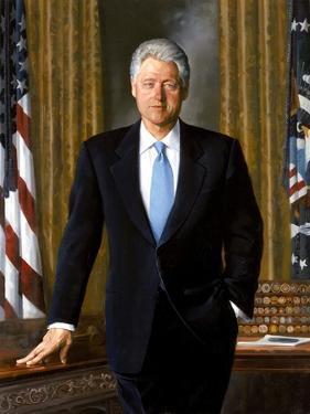 Digitally Restored White House Painting of President Bill Clinton