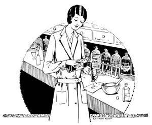 Pharmacist in the Dispensary by Dill