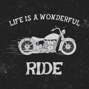 Vintage Label with Motorcycle .Vintage Style.Typography Design for T-Shirts by Dimonika