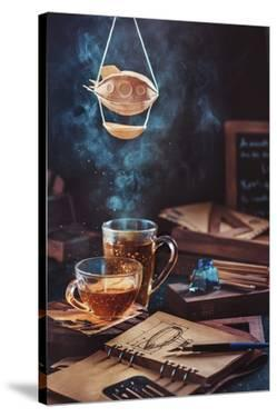 Steampunk Tea (with A Blimp) by Dina Belenko