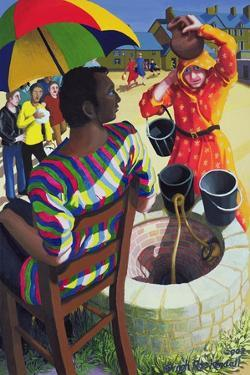 Jesus and Samaritan Woman at the Well, 2002 by Dinah Roe Kendall