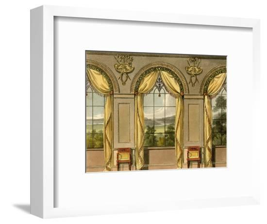Dining Room Curtains--Framed Giclee Print