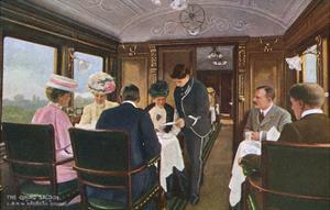 Dining Saloon on a London to Liverpool Express Train