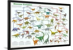 Dinosaur Evolution Educational Science Chart Poster
