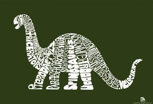 Dinosaur Types Text Poster