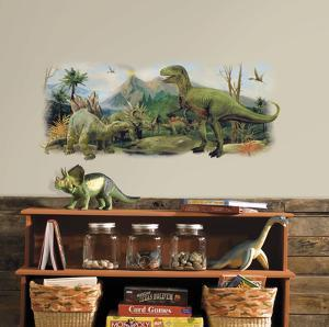 Dinosaurs Giant Scene Peel And Stick Wall Graphic