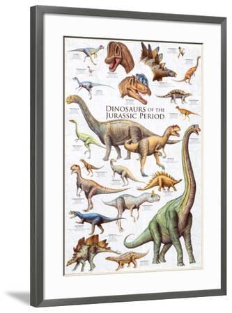 Dinosaurs - Jurassic Period--Framed Poster