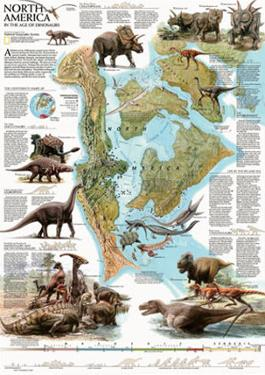 Dinosaurs of North America Map