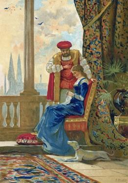 King Henry VIII and Ann Boleyn by Dionisio Baixeras-Verdaguer