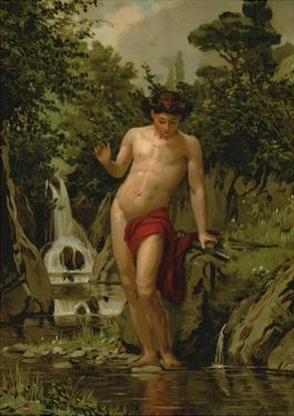 Narcissus in Love with His Own Reflection by Dionisio Baixeras-Verdaguer