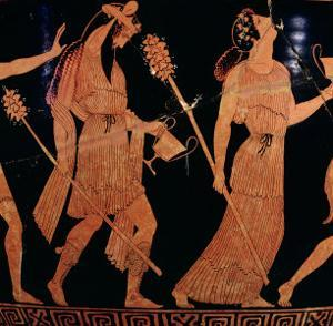 Dionysiac Procession, Detail of an Attic Red-Figure Bell-Krater, 5th Century BC