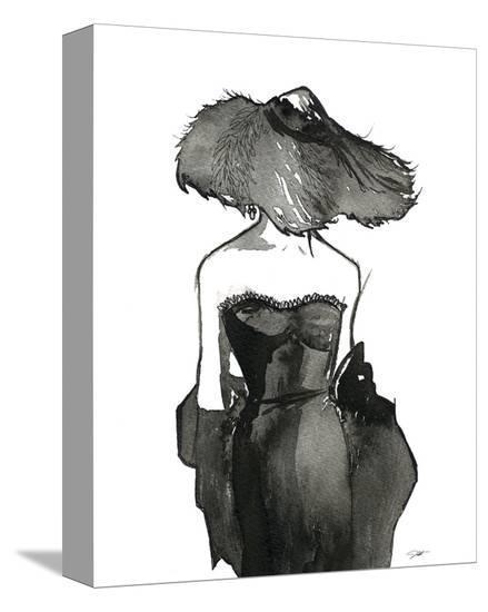 Dior Dame-Jessica Durrant-Stretched Canvas Print