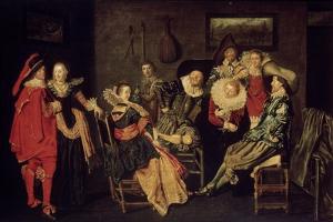 The Merry Company, 17th Century by Dirck Hals