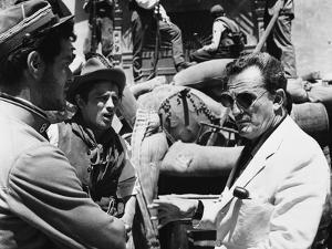 "Director Luchino Visconti on set of film ""The Leopard"", 1962 (b/w photo)"
