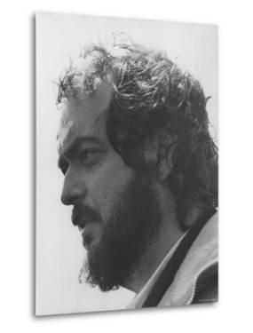 """Director Stanley Kubrick in Serious Profile Portrait During Filming of His Movie """"Barry Lyndon."""""""