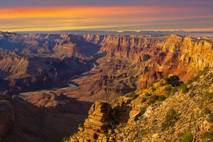 Majestic Vista of the Grand Canyon at Dusk by diro