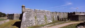Dirt Road Passing by a Fort, Castillo De San Marcos National Monument, St. Augustine, Florida, USA