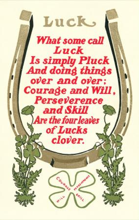 Discourse on Luck