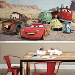 Disney Cars Desert XL Chair Rail Prepasted Mural
