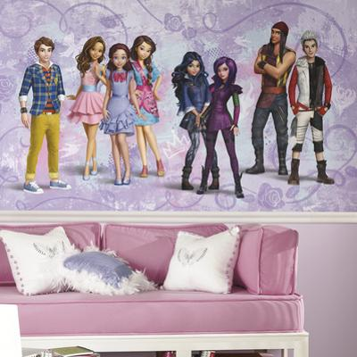 Disney Descendants XL Chair Rail Prepasted Mural