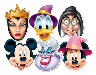 Disney Halloween 6pk-Mickey Vampire,Minnie Witch,Donald Wizard,Ursula,Wicked Witch & Wicked Queen-F