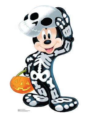 Disney Halloween Mickey Skeleton