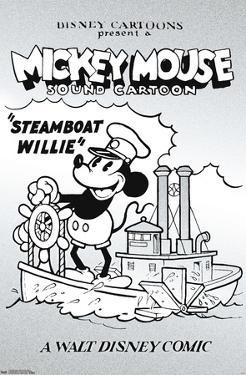Disney Mickey Mouse - Black and White Steamboat Willie