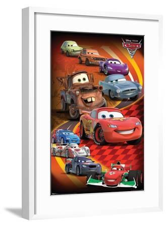 Disney Pixar Cars 2 - Group--Framed Poster