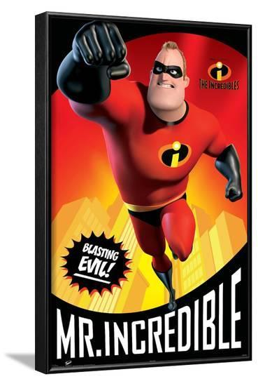 Disney Pixar The Incredibles - Mr. Incredible--Framed Poster