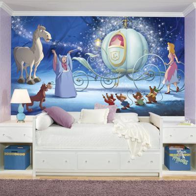 Disney Princess Cinderella Carriage XL Chair Rail Prepasted Mural