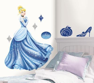 Disney Princess   Cinderella Glamour Peel U0026 Stick Giant Wall Decal
