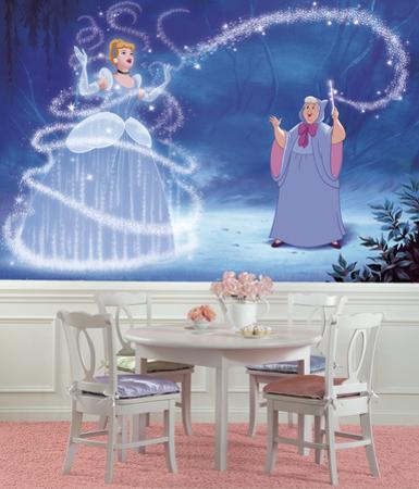 Disney Princess Cinderella Magic XL Chair Rail Prepasted Mural