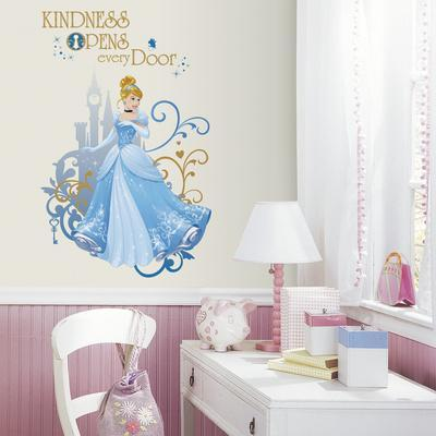 Disney Princess Cinderella Peel And Stick Giant Wall Graphic. Wall Decal