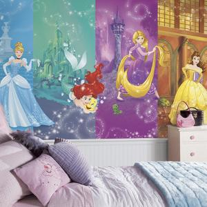 Disney Princess Scenes XL Chair Rail Prepasted Mural