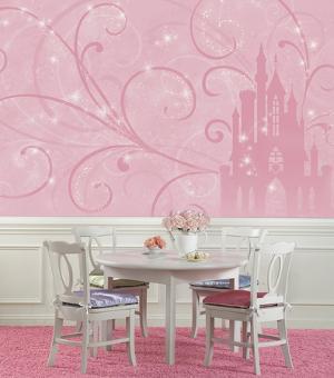 Disney Princess - Scroll Castle Prepasted Mural