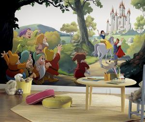 Disney Princess Snow White Happily Ever After XL Chair Rail Prepasted Mural