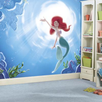 Disney Princess The Little Mermaid Part Of Your World XL Chair Rail Prepasted Mural