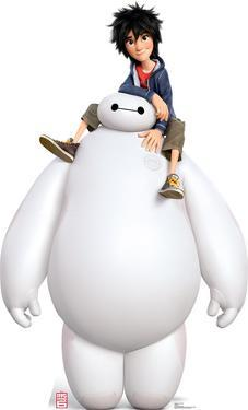 Disney's Big Hero 6 - Baymax and Hiro Lifesize Cardboard Cutout