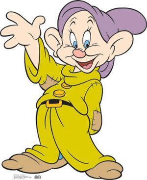 Disney's Snow White and the Seven Dwarves - Dopey Lifesize Cardboard Cutout