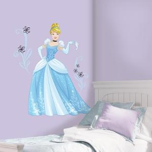 Disney Sparkling Cinderella Peel and Stick Giant Wall Decals