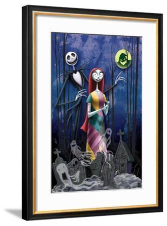 Disney Tim Burton's The Nightmare Before Christmas - Romance--Framed Poster