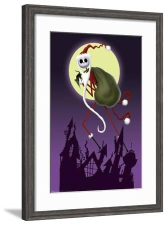 Disney Tim Burton's The Nightmare Before Christmas - Sandy Claws--Framed Poster